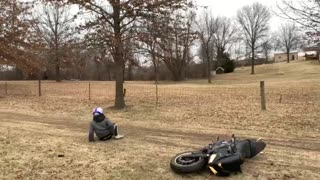 Sport Bike Rider Flips on Mudslide