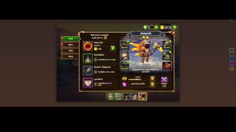 [GAMEPLAY] Hero Wars Web Shop Menu Invent Level XP