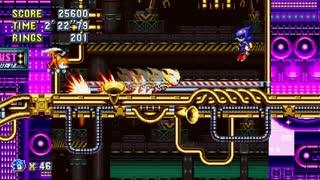 Sonic Mania Super Sonic vs. Metal Sonic (Stardust Speedway Act 2 Boss)