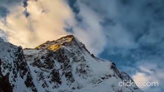 Incredible mountain k2 climbing