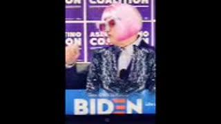 Joe Biden senile Cross Dresser