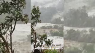 Video: Fuerte granizada se registró este jueves en San Andrés, Santander