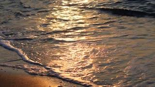Sea Wave Golden Sand Sunrise Ocean Water