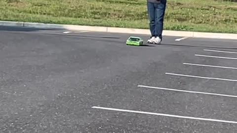 RC Car Crashes into Cameraman