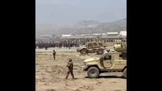 Inside Kabul Airport