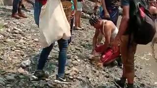 Indigenous community fishing