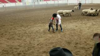 Fun on the Farm - First mutton ride