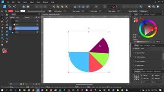 Pie Chart in Affinity Designer