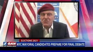NYC mayoral candidates prepare for final debate
