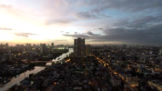 Night time time laps over pasig river mandaluyong