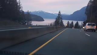 Driving Through BC Mountains