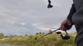 Fishing on the river. Saskatoon