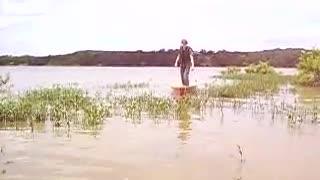 walking in a canoe