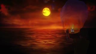relaxing full moon