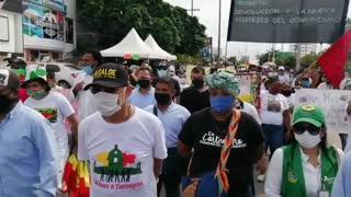 Alcalde William Dau en la protesta