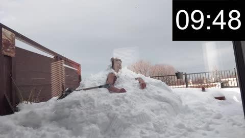 My first ice bath (snowbank)
