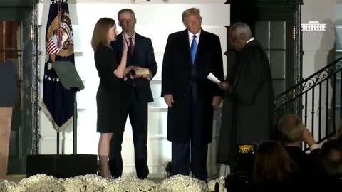 Amy Coney Barrett sworn in 61