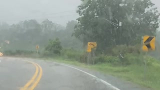 Slow motion drive in the rain