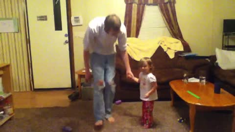 Emma and daddy dancing #2