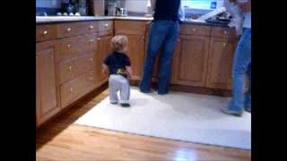 Toddler dancing