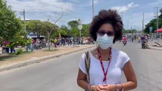 Reporte de la marcha en Cartagena 2021