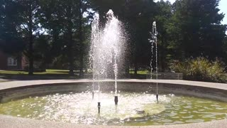 Water Fountain Up Close Sounds of Splashing Water Serene Spot ASMR Trigger Noises Calming Relaxation