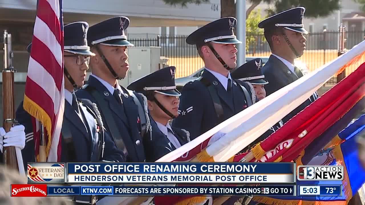 Henderson post office renamed in veterans' honor