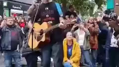 Anti-lockdown, Anti-vax protest Manchester England