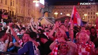 Slavlje navijača na trgu u Zagrebu