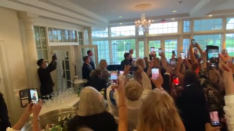 July 28th, 2021 Trump is received by a cheering crowd at a private event in Mar-a-Lago