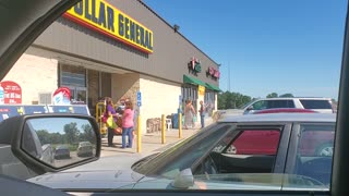 Bizarre Argument between Women Outside a Bargain Store