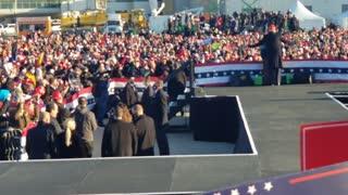 Trump at a rally In Pennsylvania