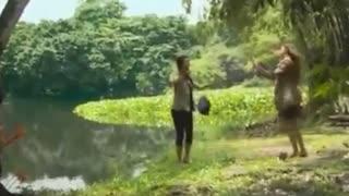 Crocodile attack and killed her