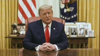 President Trump from Oval Office January 13, 2021