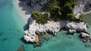 Beautiful white sand beach in Greece