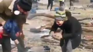 MIGRANTS IN GREECE babies and mothers crying