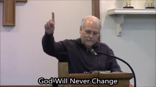 God Will Never Change