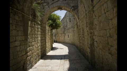 Old cityscapes of Jerusalem Israel - man & camera