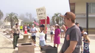 Arrested in San Diego for protesting