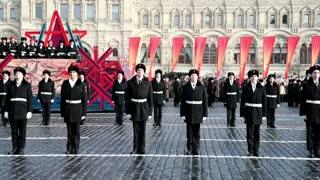 Rusia conmemora la parada militar de 1941