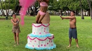 Gender Reveal Cake Surprise