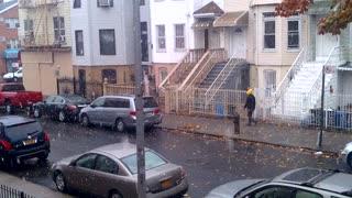 snowing - Bushwick, Brooklyn, New York