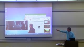 April Fools Prank - Maths Professor Fixes Projector Screen
