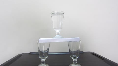 How to Balance Glass on Sheet of Paper