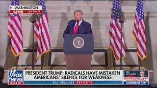President Donald Trump announces 1776 Commission