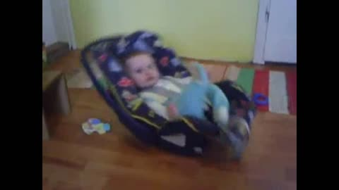 Little baby like self-swinging