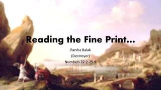 Reading the fine print