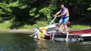 Épica caída de frente con un 'AquaSkipper'
