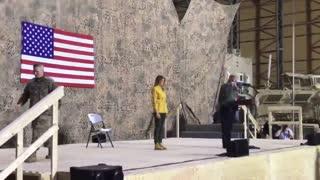 President Donald Trump's reception in Iraq