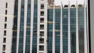 Skyscaper window cleaning jobs, risky or enjoyment